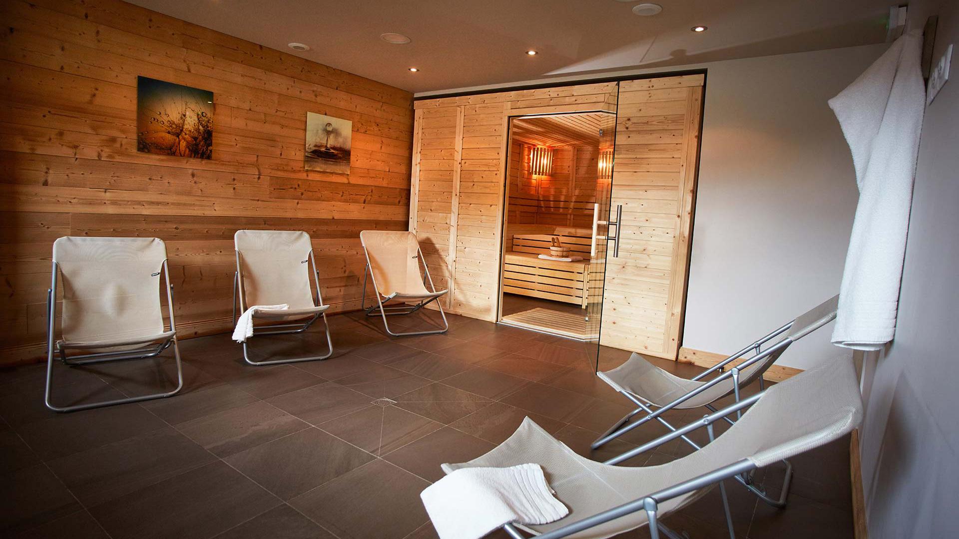 Sauna, Les Chalets du Soleil - CGH Résidences