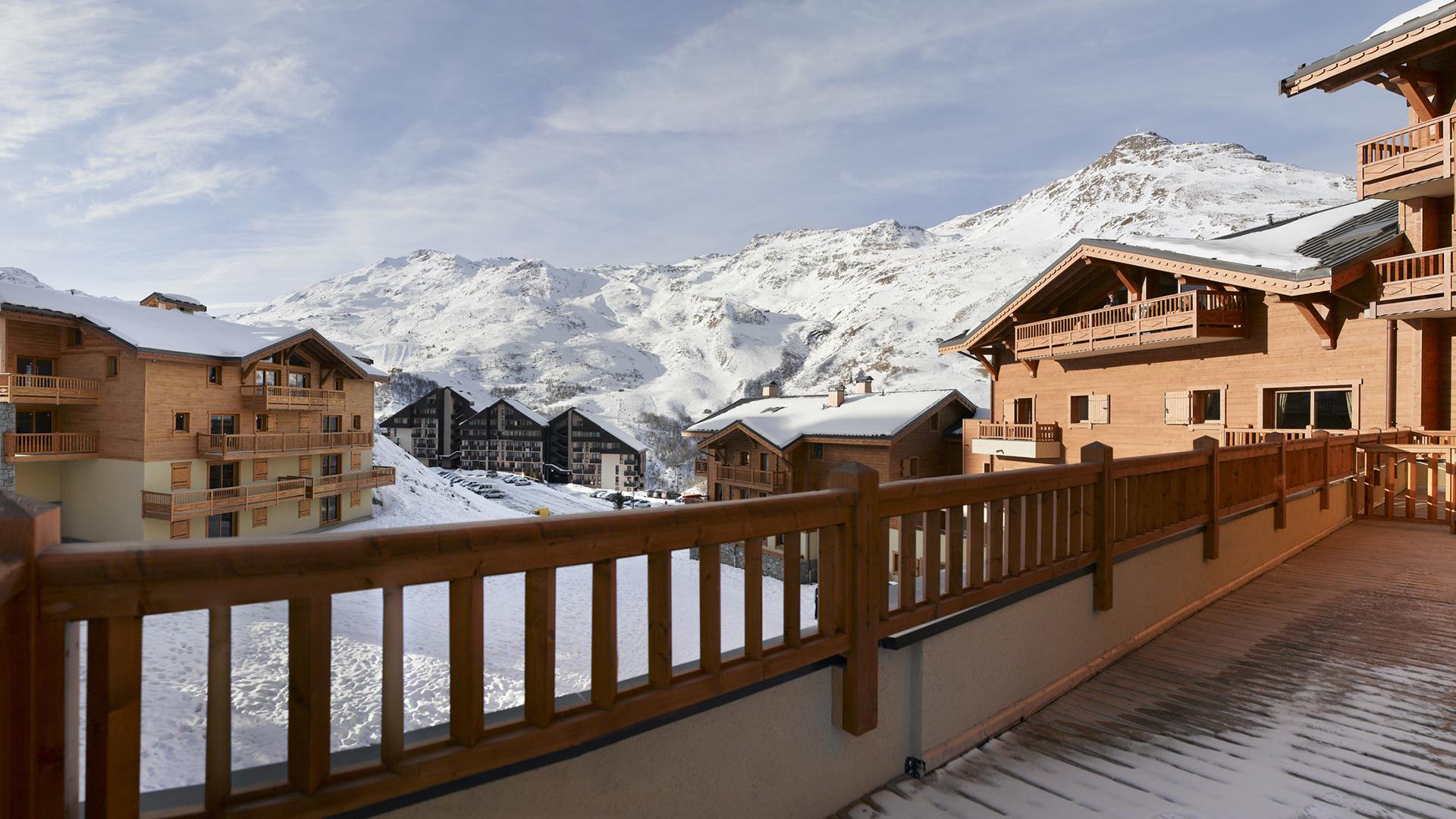 Extérieur hiver, Les Clarines - CGH Résidences