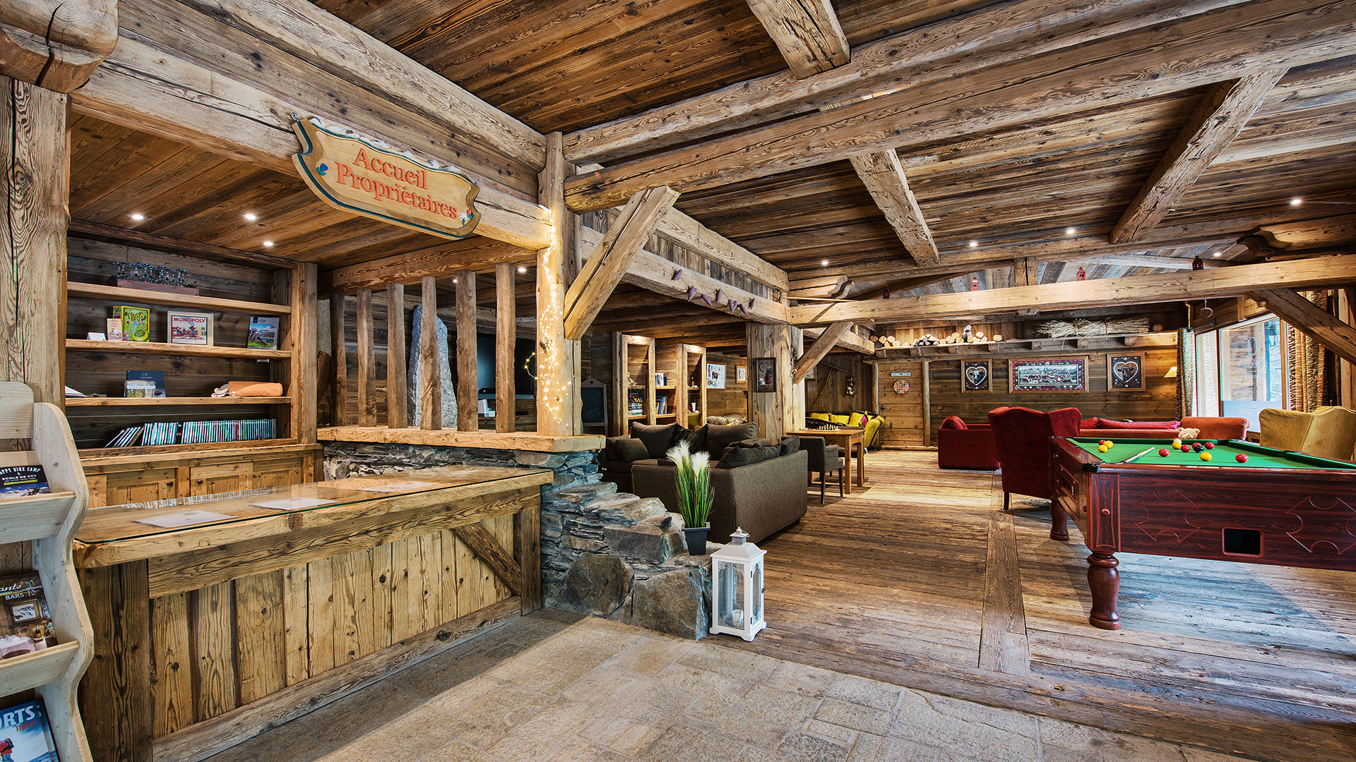 Réception, La Ferme du Val Claret - CGH Résidences