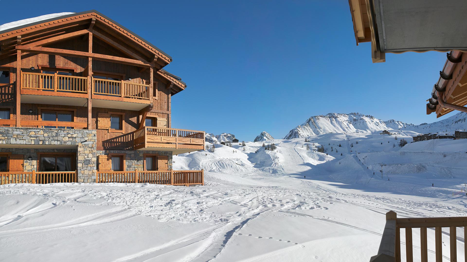 Extérieur hiver, Les Granges du Soleil - CGH Résidences