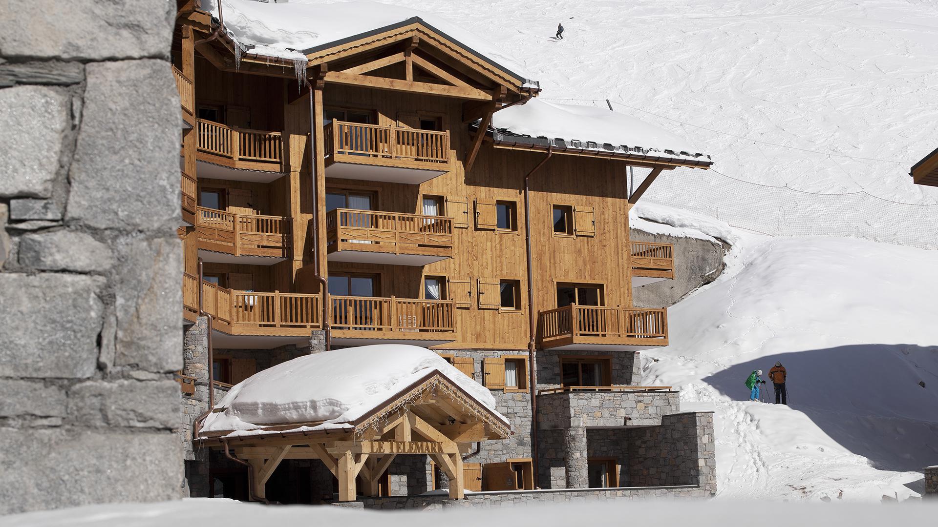 Extérieur hiver, Le Télémark - CGH Résidences